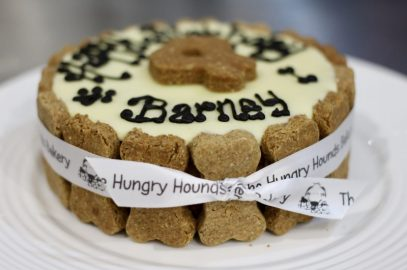 Delicious Doggy Birthday Cake by The Hungry Hounds Bakery