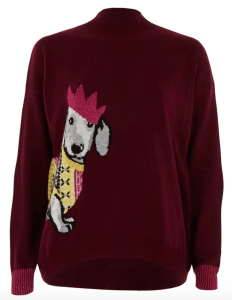Dog-Themed Christmas Jumpers {Christmas} #RiverIsland #ChristmasJumpers #DogChristmasJumpers #WomensChristmasJumpers #Christmas #Jumpers #DogThemed www.scruffylittleterrier.com