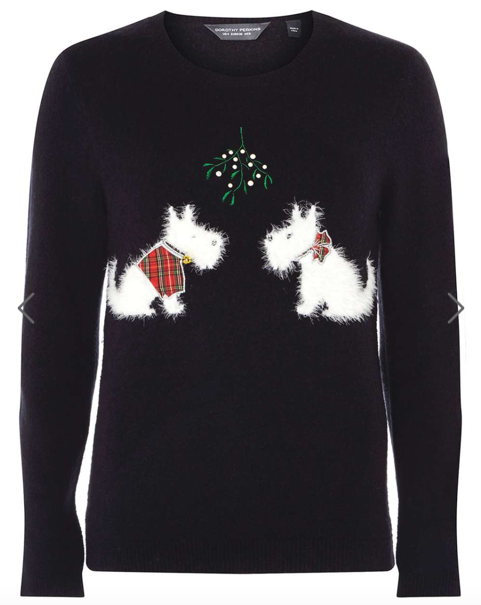 Dog-Themed Christmas Jumpers {Christmas} #DorothyPerkins #ChristmasJumpers #DogChristmasJumpers #WomensChristmasJumpers #Christmas #Jumpers #DogThemed www.scruffylittleterrier.com