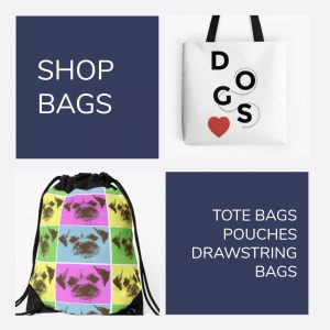 Shop Bags {Shop} #Bags #DrawstringBags #Pouches #ToteBags #DogGifts #Shop www.scruffylittleterrier.com