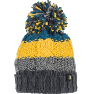 Chunky Cable Knit Wool Bobble Hat Yellow