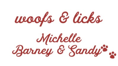 woofs & licks signature from Michelle Barney & Sandy