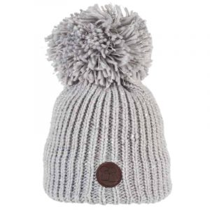 Sequinned Wool Bobble Hat Grey