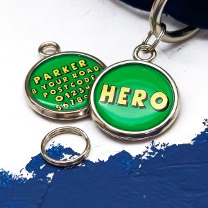 Pawsome Pet Tags Hero Dog Tag in green