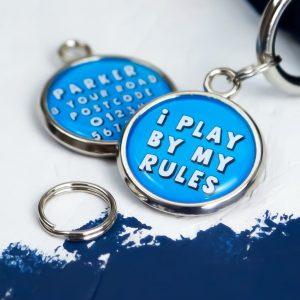 Pawsome Pet Tags I Play By My Rules Dog Tag