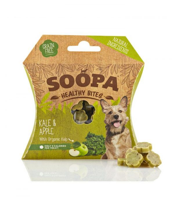 Soopa Healthy Bites Dog Treats 3 varieties small treats available at www.scruffylittleterrier.com