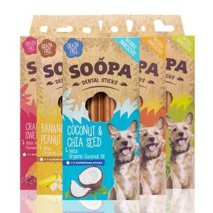 Soopa Dental Sticks Dog Treats 5 varieties available at www.scruffylittleterrier.com