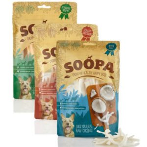 Soopa Chew Dog Treats 3 varieties chew treats available at www.scruffylittleterrier.com